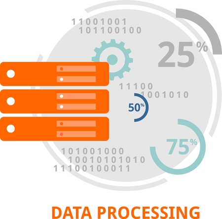 bytes: An illustration showing a data processing concept