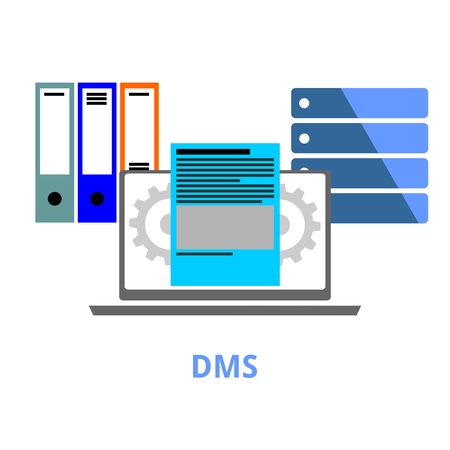 dms: An illustration showing a document management system concept