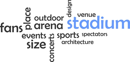 outdoor event: A word cloud of stadium related items