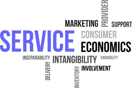 service provider: A word cloud of service related items