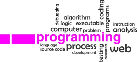 debugging: A word cloud of programming related items