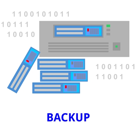 bits: An illustration showing a backup concept