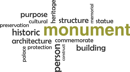 monument: A word cloud of monument related items