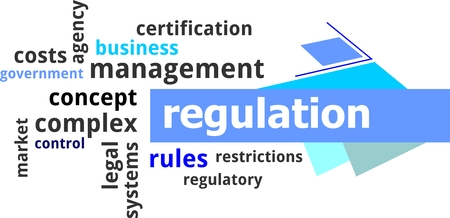 government regulations: A word cloud of regulation related items