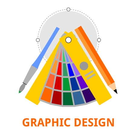 precise: An illustration showing a graphic design concept