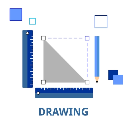 precise: An illustration showing a drawing concept Illustration