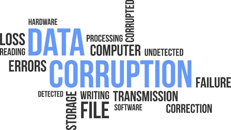 corruption: A word cloud of data corruption related items