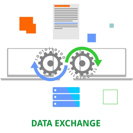 data exchange: An illustration showing a data exchange concept