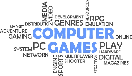 emulation: A word cloud of computer games related items