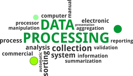 data processing: A word cloud of data processing related items