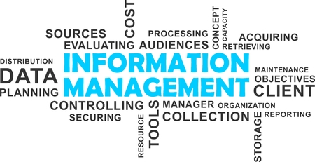 information management: A wrod cloud of information management related items