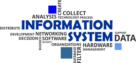 distribute: A word cloud of information system related items