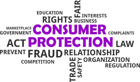consumer protection: A word cloud of consumer protection related items