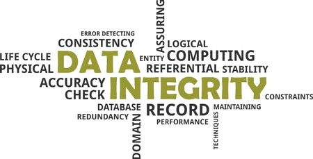 constraints: A word cloud of data integrity related items