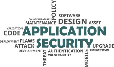 アプリケーションのセキュリティの単語の雲関連商品  イラスト・ベクター素材