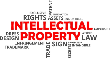 infringement: A word cloud of intellectual property related items