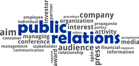 public relations: A word cloud of public relations related items