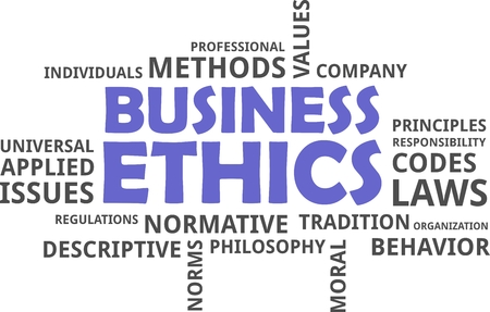 normative: A word cloud of business ethics related items