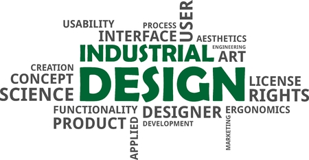 industrial design: A word cloud of industrial design related items
