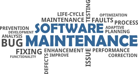 mend: A word cloud of software maintenance related items