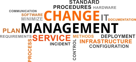 A word cloud of change management related items Stock Vector - 75411392