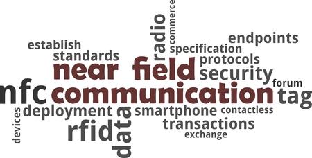 近距離無線通信の単語の雲関連商品