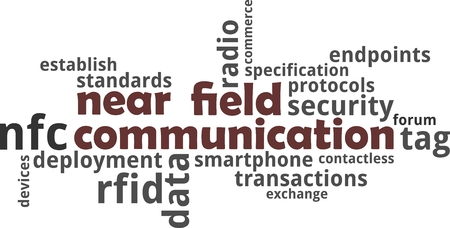 A word cloud of near field communication related items 向量圖像