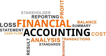 stakeholder: A word cloud of financial accounting related items