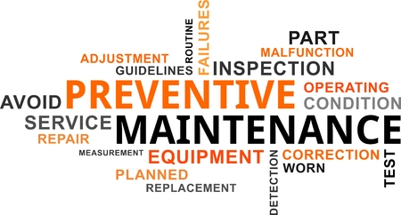 failures: A word cloud of preventive maintenance related items