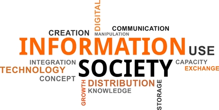 A word cloud of information society related items
