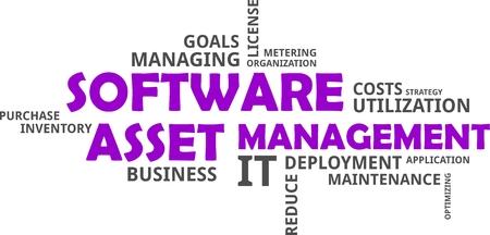 ソフトウェア資産管理の単語の雲関連商品