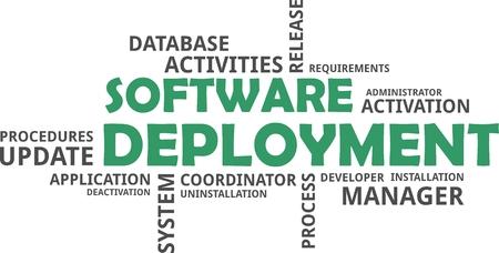 ソフトウェアの展開の単語の雲関連商品  イラスト・ベクター素材