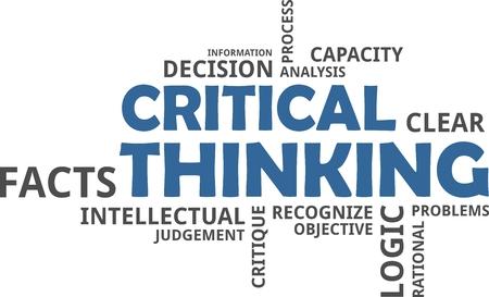 批判的思考の単語の雲関連商品 写真素材 - 88766227