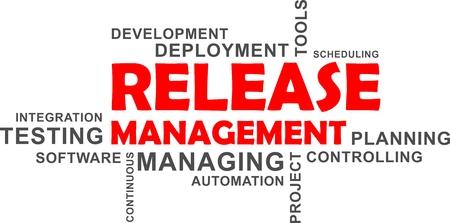 リリース管理関連項目のワードクラウド  イラスト・ベクター素材