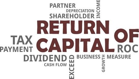 A word cloud of return of capital related items Stok Fotoğraf - 93650520
