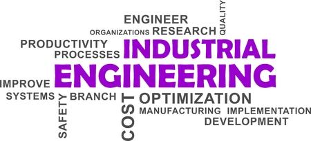 Industrial engineering text design Stock Illustratie