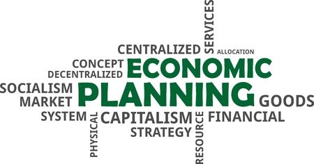 Word cloud of economic planning design