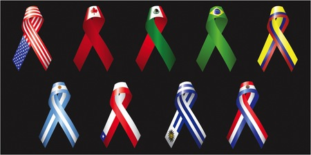 american flags: Ribbons of the Americas 1