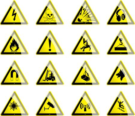 trip hazard sign: Triangular Hazard Symbols Illustration