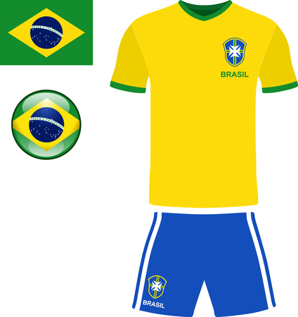 football jersey: Brazil Football Jersey. Vector graphic image representing the national football jersey of Brazil.
