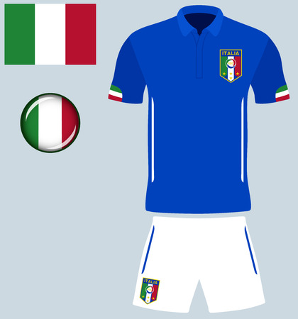 football jersey: Italy Football Jersey. Vector graphic image representing the national football jersey of Italy. Illustration