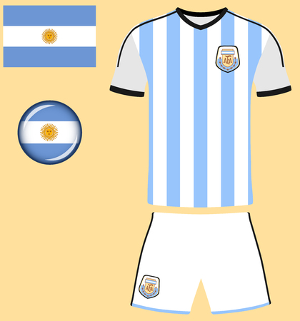 football jersey: Argentina Football Jersey. Vector graphic image representing the national football jersey of Argentina. Illustration