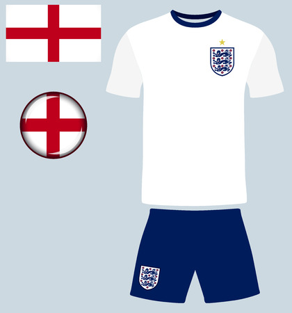 england: England Football Jersey. Vector graphic image representing the national football jersey of England. Illustration