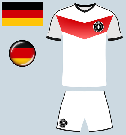 football jersey: Germany Football Jersey. Vector graphic image representing the national football jersey of Germany.