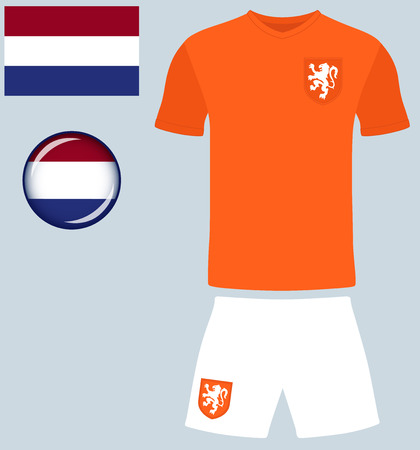 football jersey: Holland Football Jersey. Vector graphic image representing the national football jersey of the Netherlands.