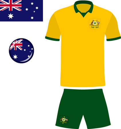 flag template: Australia Football Jersey. Vector graphic illustration representing the national football jersey of Australia. Illustration