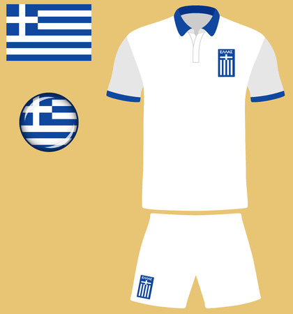 football jersey: Greece Football Jersey. Vector graphic illustration representing the national football jersey of Greece. Illustration