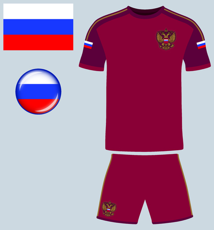 football jersey: Russia Football Jersey. Vector graphic illustration representing the national football jersey of Russia.