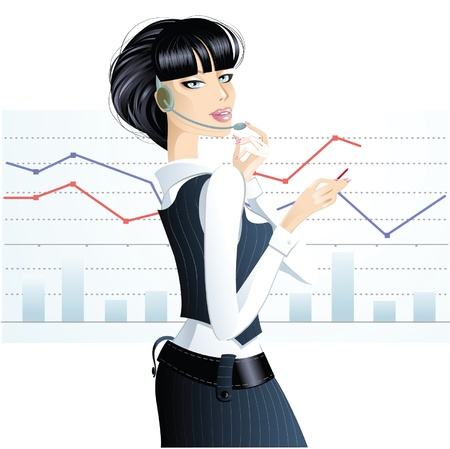 girl in the business Stock Vector - 10825324