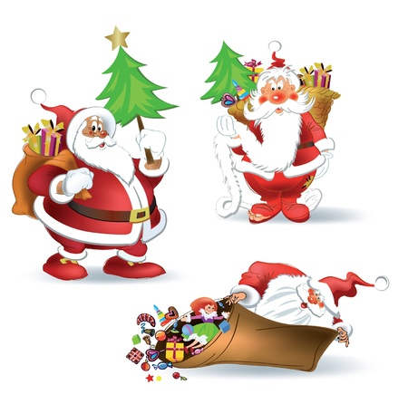 Santa Claus Christmas and New Year Stock Vector - 10886441